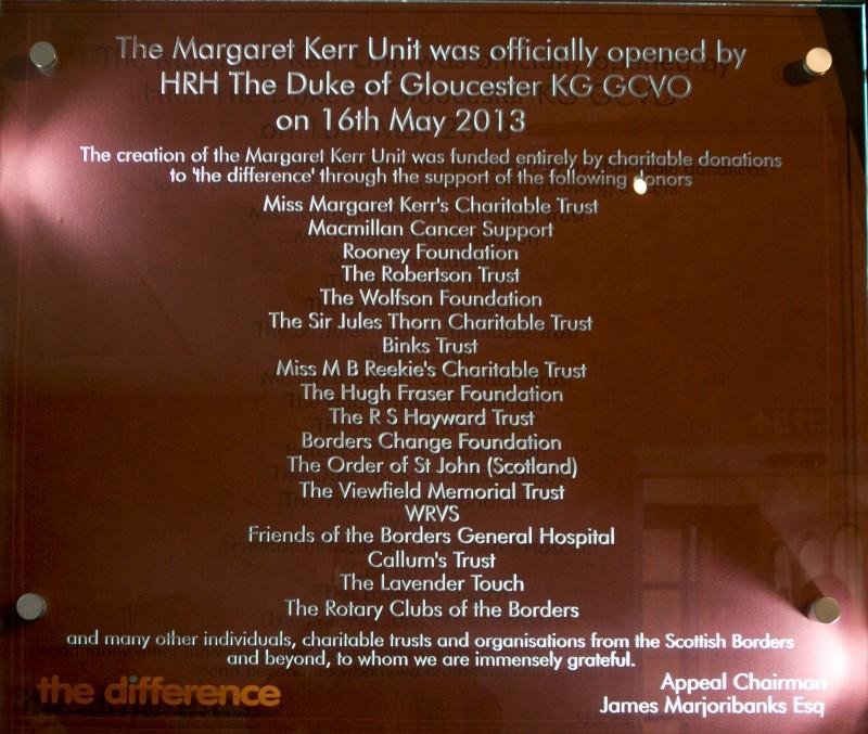 Duke of Gloucester opens the Margaret Kerr Unit